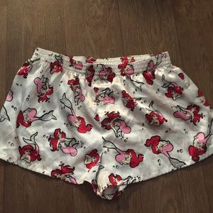 Ariel little mermaid pajama shorts